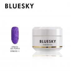 Bluesky EMBOSS GEL PURPLE 11 NAIL ART